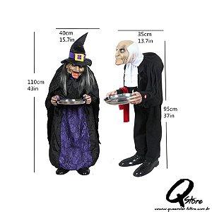 Boneco Halloween c/ Bandeja para decoração - Lote com Defeito