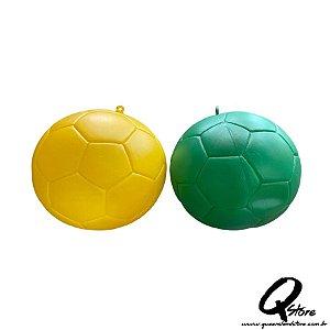 Enfeite Bola de Futebol Brasil Plástico -Unidade