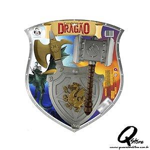 Cavaleiro Dragão Martelo Escudo E Machado - Plástico