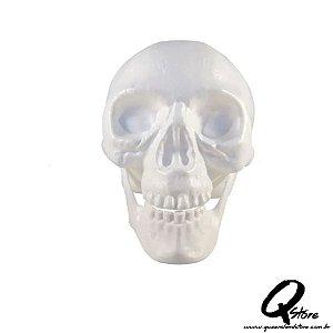 Crânio Branco Caveira -Plástico