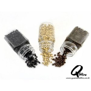 Micro link para Mega Hair C/ Silicone - 100 Unidades