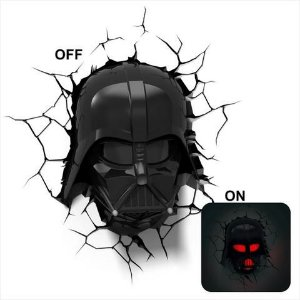 Luminária 3D Light FX Star Wars Darth Vader Helmet