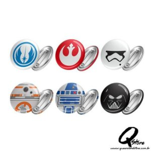 Bottons Kit de 06 Bottons Star Wars