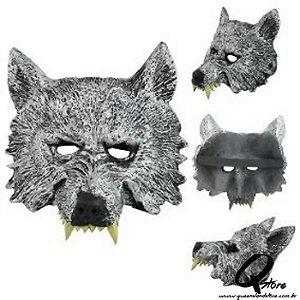 Máscara Lobo Meio Rosto