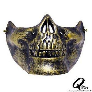 Máscara Boca Caveira Dourado
