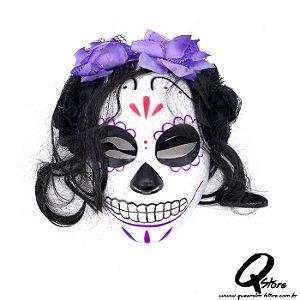 Máscara Caveira Mexicana c/ Cabelo