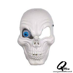 Máscara de Caveira C/ Olho - Branca