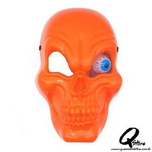 Máscara de Caveira C/ Olho - Laranja