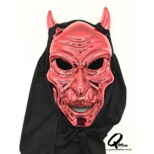 Máscara Diabo Vermelho c/ Capuz
