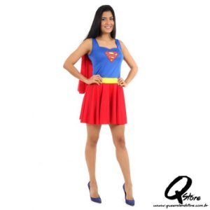 Fantasia Super Mulher Adulto - Liga da Justiça