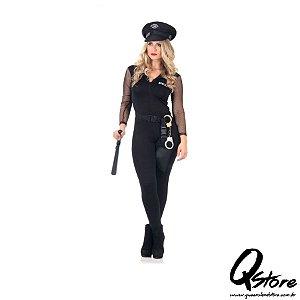 Fantasia Policial Macacão Feminina Adulto - Heat Girls