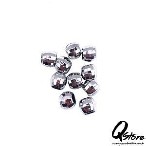 Anel Para Trança c/10 und -Globo Prata Plástico