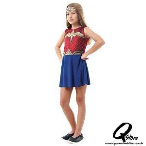 Fantasia Mulher Maravilha Infantil Pop - Liga da Justiça