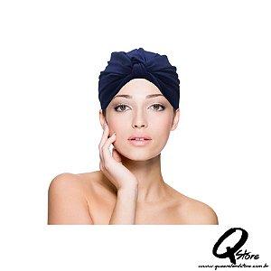 Turbante Liso -Cor: Azul Escuro