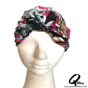 Turbante Liso Estampando - Modelo 3