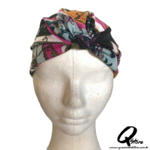Turbante Liso Estampando - Modelo 12