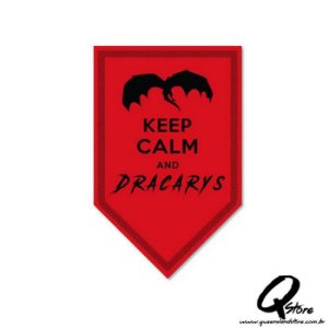 Placa Decorativa 30x16 Keep Calm and Dracarys