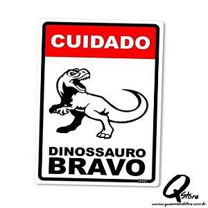 Placa Decorativa 24x16 Dinossauro Bravo