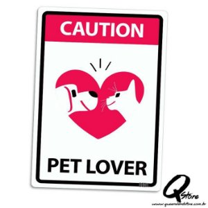 Placa Decorativa 24x16 Pet Lover