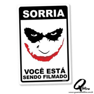 Placa Decorativa 24x16 Sorria