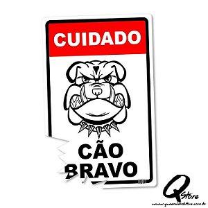 Placa Decorativa 24x16 Cão Bravo