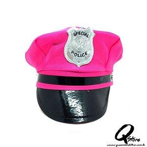 Quepe Policial Rosa