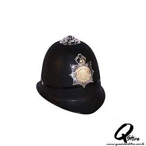 Capacete Policial Inglês - Preto