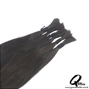 Cabelo Natural Brasileiro Liso 35 cm - 100 Gr