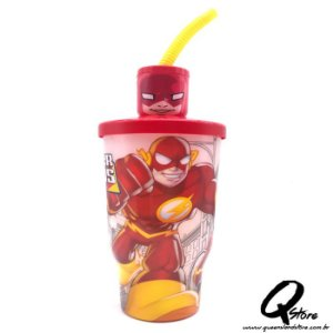Copo do Flash c/ Tampa e Canudo- 500ml