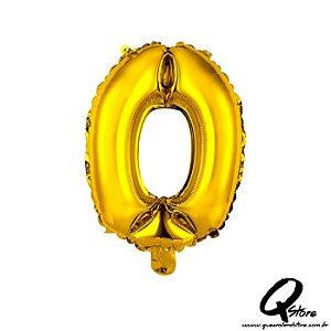 Balão Metalizado Dourado  Nº0 - 41cm