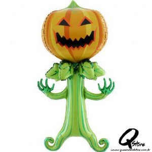 Balão Metalizado Spooky Pumpkin - Grabo Intl. - 5' (Aprox. 143 cm)