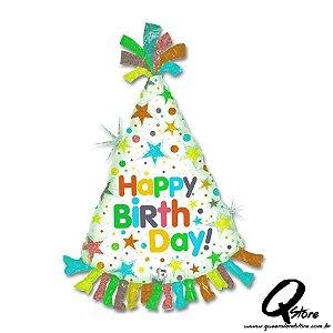"Balão Metalizado Balloon Happy Birth Day - Grabo - 34"" (Aprox 86 cm)"