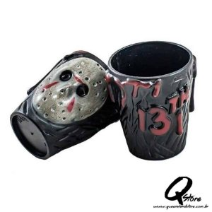 Kit 2 Copos Shot Plástico Jason Voorhees 20ml