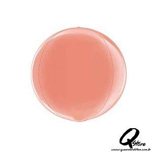 Balão Metalizado Globe Rose Gold 4D – Grabo