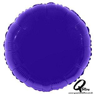 """Balão Metalizado Redondo Roxo - 20"""" (Aprox 50 cm)"""