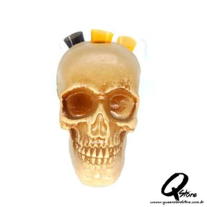 Enfeite Cranio Halloween Porta Copos c/5 Copos 14 CM