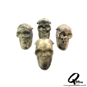 Mini Crânio Plástico - 10 unidades