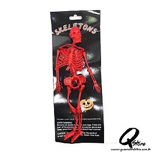 Esqueleto Borracha -Vermelho