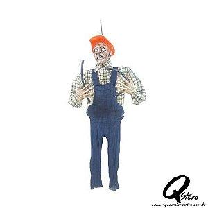 Boneco Eletricista com Luz e Som Pendurado Para o Halloween 160cm x 150cm