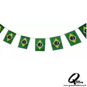 Bandeirinha Varal c/ 3 metros  - Brasil