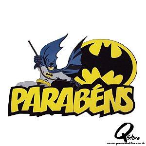 Painel decorativo em EVA - Parabéns - Batman