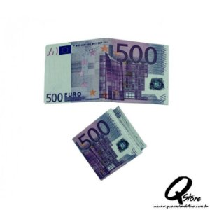 Carteira Masculina Slim - Em formato de nota de 500 Euro