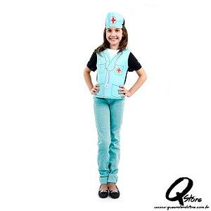 Kit Peitoral Enfermeira Infantil - Profissões
