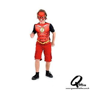 Kit Peitoral Flash Infantil - Liga da Justiça