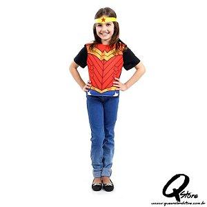 Kit Peitoral Mulher Maravilha Infantil - Liga da Justiça