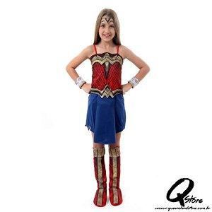 Fantasia Mulher Maravilha Infantil Luxo - Liga da Justiça