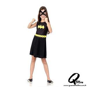 Fantasia Batgirl infantil pop - Liga da Justiça