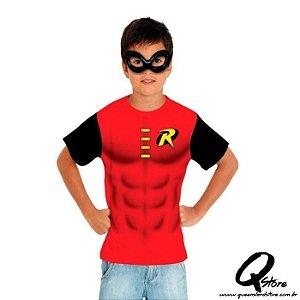 Kit Máscara Plástica e Camiseta - Robin