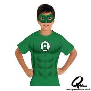 Kit Máscara Plástica e Camiseta - Lanterna Verde