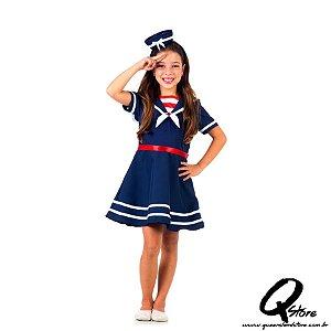 Fantasia Marinheira Verão - Infantil